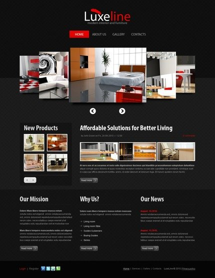 ADOBE Photoshop Template 50056 Home Page Screenshot