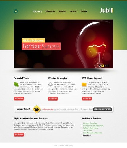 ADOBE Photoshop Template 50057 Home Page Screenshot