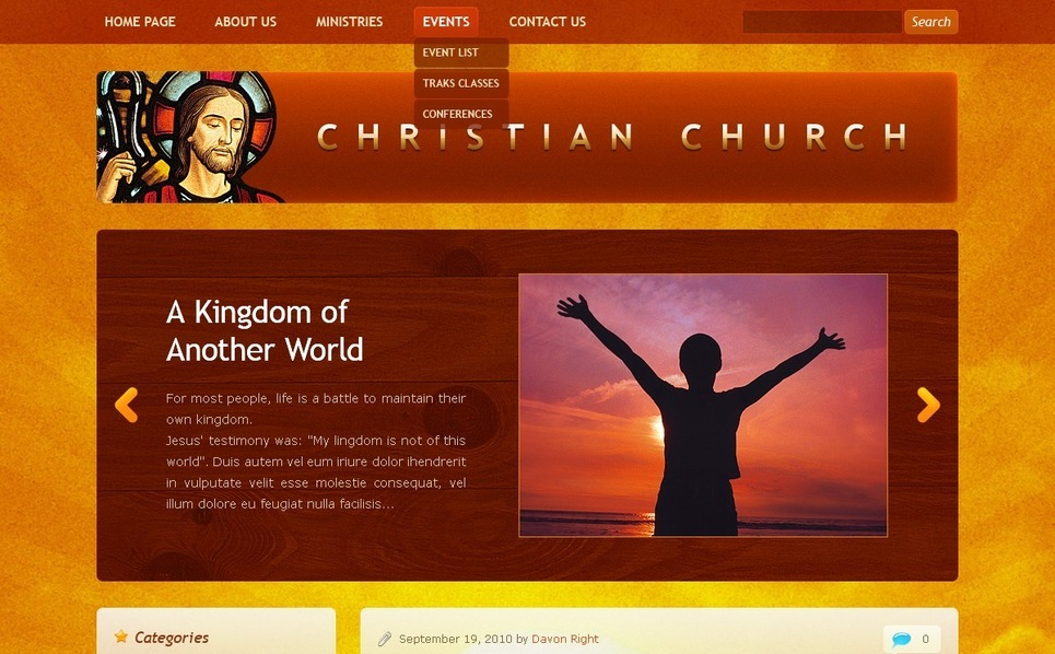 Tema PSD  #50061 per Un Sito di Cristianismo New Screenshots BIG