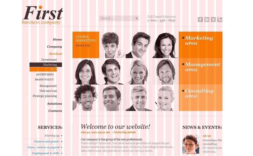 Modello PSD  #50063 per Un Sito di Business e Servizi New Screenshots BIG