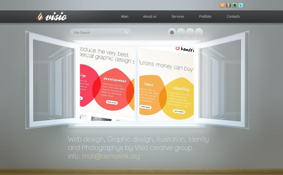 PSD шаблон №50065 на тему Шаблон сайтов студии дизайна New Screenshots BIG