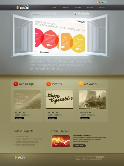 ADOBE Photoshop Template 50065 Home Page Screenshot