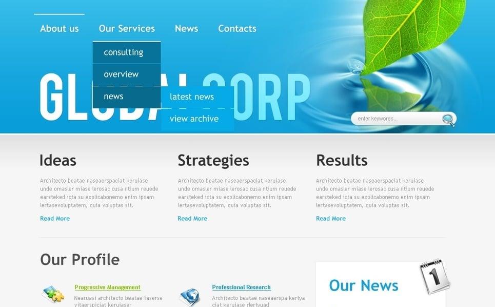Modello PSD  #50066 per Un Sito di Business e Servizi New Screenshots BIG