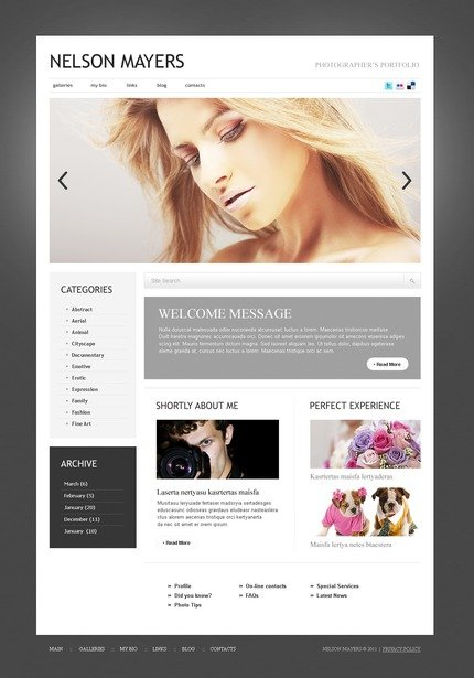 ADOBE Photoshop Template 50067 Home Page Screenshot