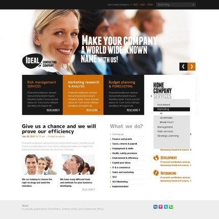 ADOBE Photoshop Template 50068 Home Page Screenshot