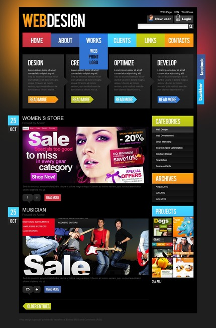 ADOBE Photoshop Template 50070 Home Page Screenshot
