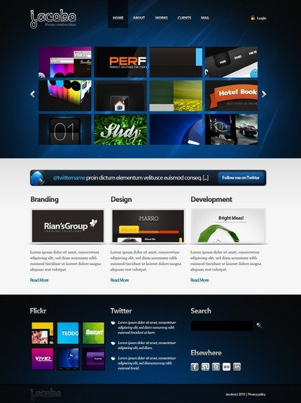 ADOBE Photoshop Template 50072 Home Page Screenshot