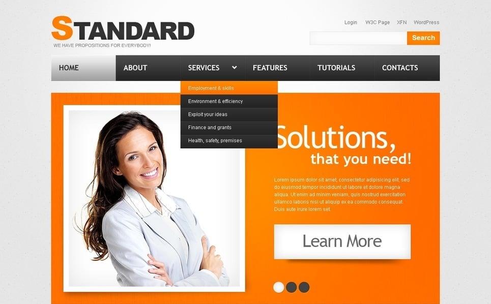 Tema PSD  #50073 per Un Sito di Business e Servizi New Screenshots BIG