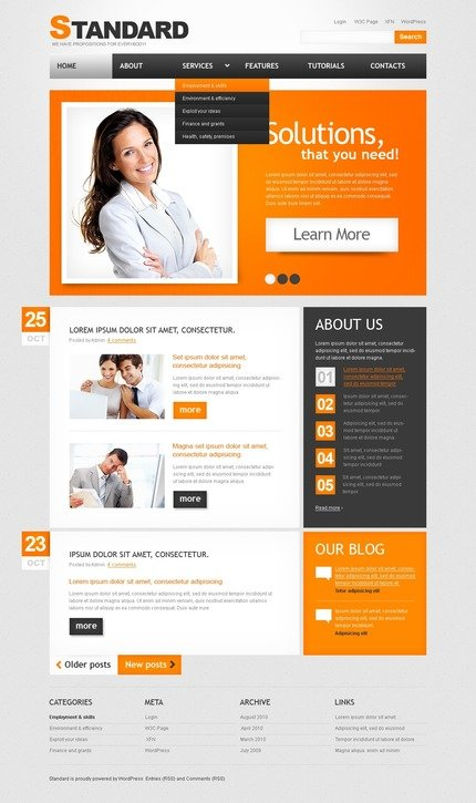 ADOBE Photoshop Template 50073 Home Page Screenshot