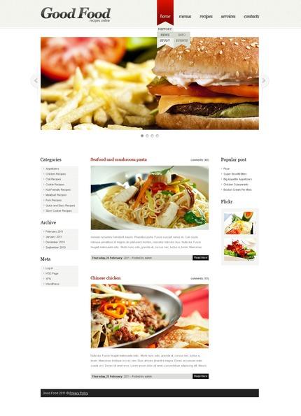 ADOBE Photoshop Template 50076 Home Page Screenshot