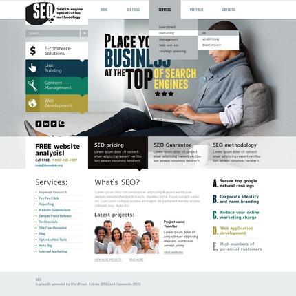 ADOBE Photoshop Template 50079 Home Page Screenshot