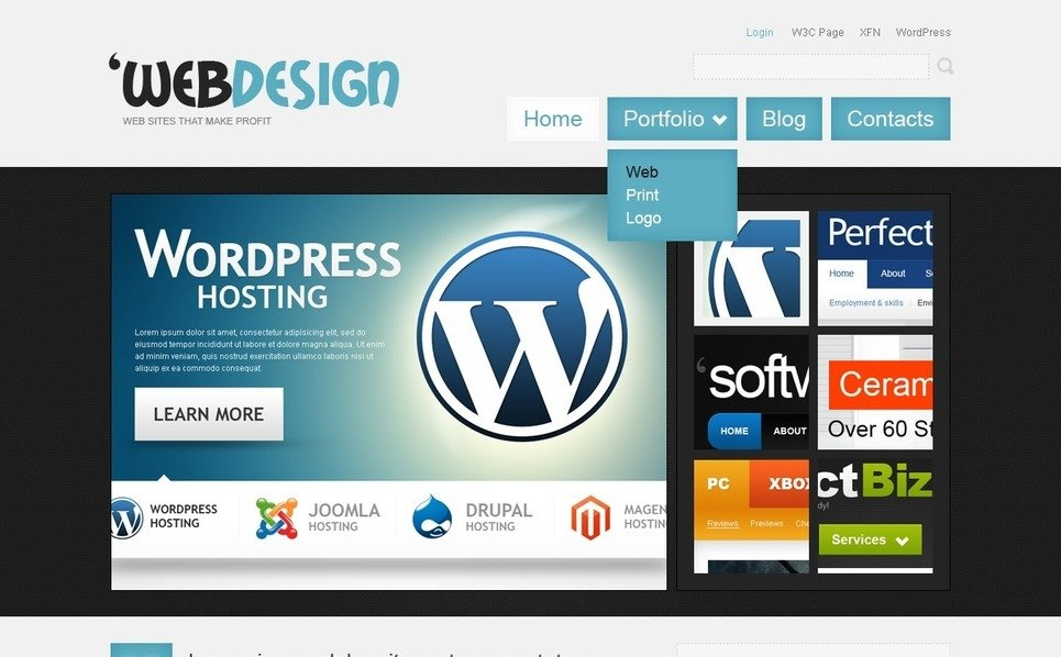Szablon PSD #50082 na temat: web design New Screenshots BIG
