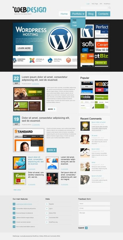 ADOBE Photoshop Template 50082 Home Page Screenshot
