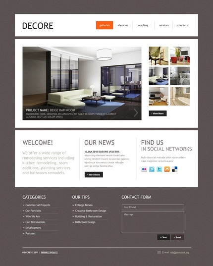 ADOBE Photoshop Template 50083 Home Page Screenshot