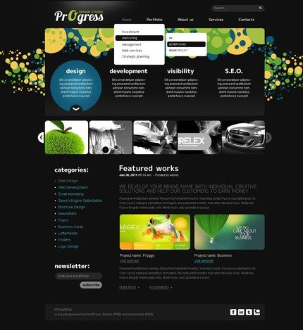 ADOBE Photoshop Template 50084 Home Page Screenshot