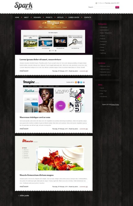 ADOBE Photoshop Template 50086 Home Page Screenshot