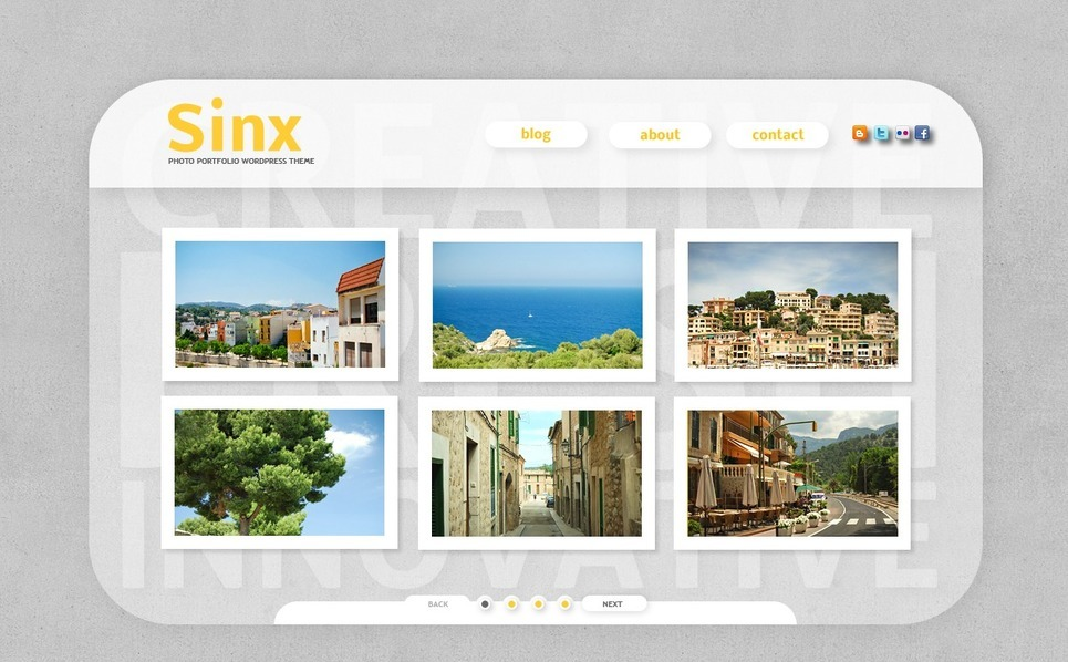 Szablon PSD #50087 na temat: portfolio fotograficzne New Screenshots BIG