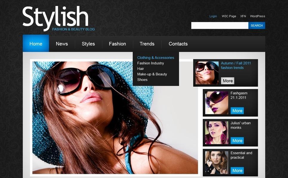 PSD шаблон №50089 на тему  о моде New Screenshots BIG