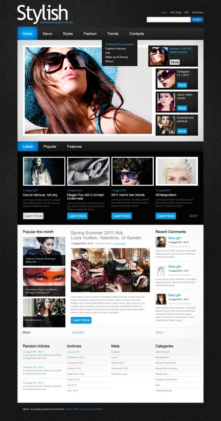 ADOBE Photoshop Template 50089 Home Page Screenshot