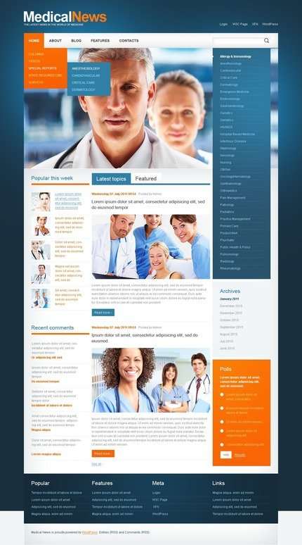 ADOBE Photoshop Template 50091 Home Page Screenshot
