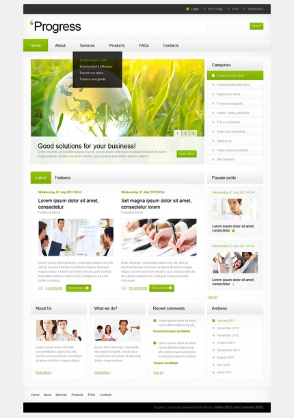 ADOBE Photoshop Template 50094 Home Page Screenshot