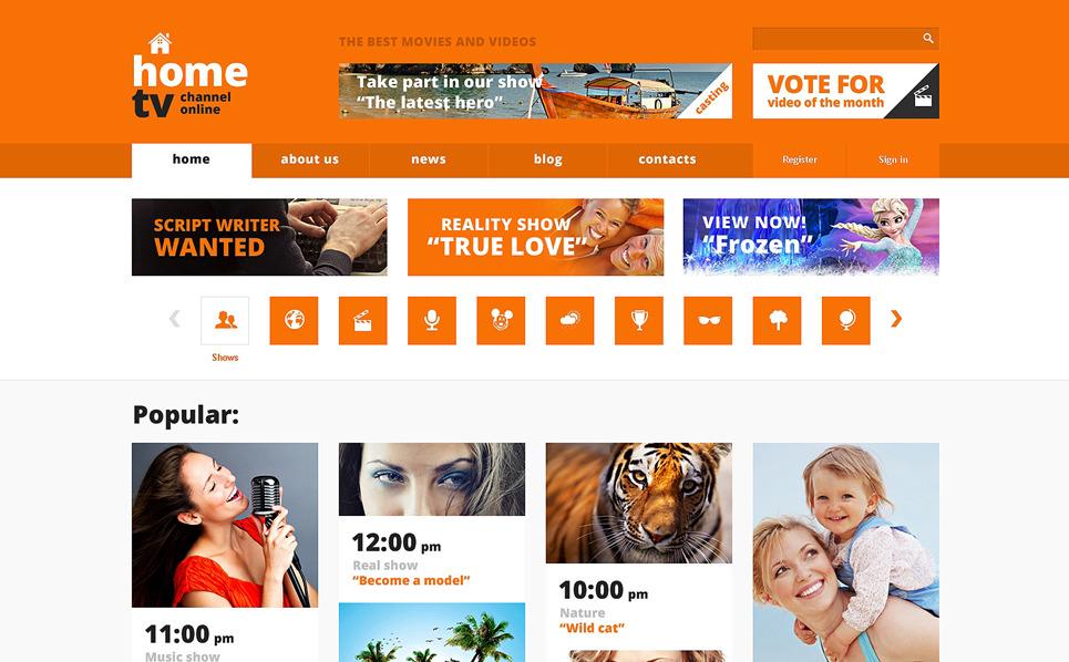 Responzivní Šablona webových stránek na téma Televizní kanál New Screenshots BIG