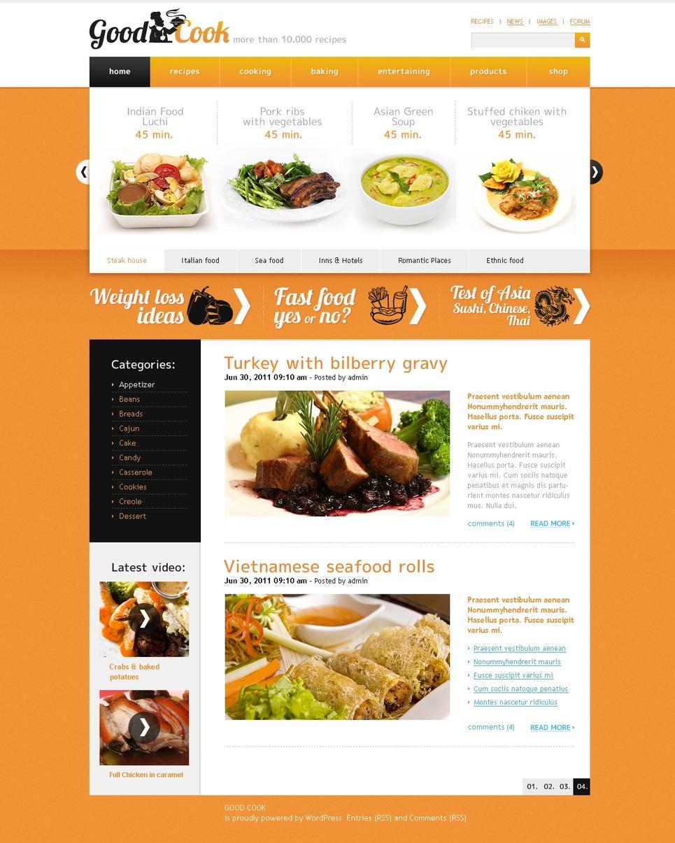 Plantilla PSD #50095 para Sitio de Cocina