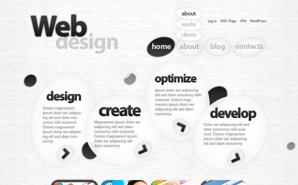 PSD шаблон №50030 на тему веб-дизайн New Screenshots BIG