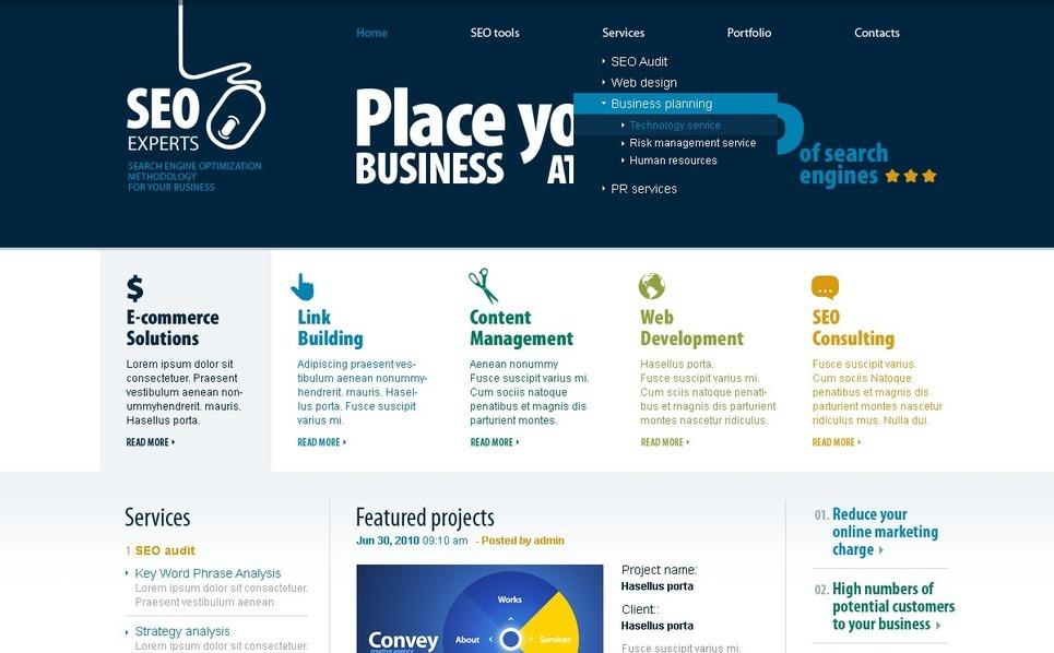 PSD шаблон №50040 на тему сайт seo New Screenshots BIG