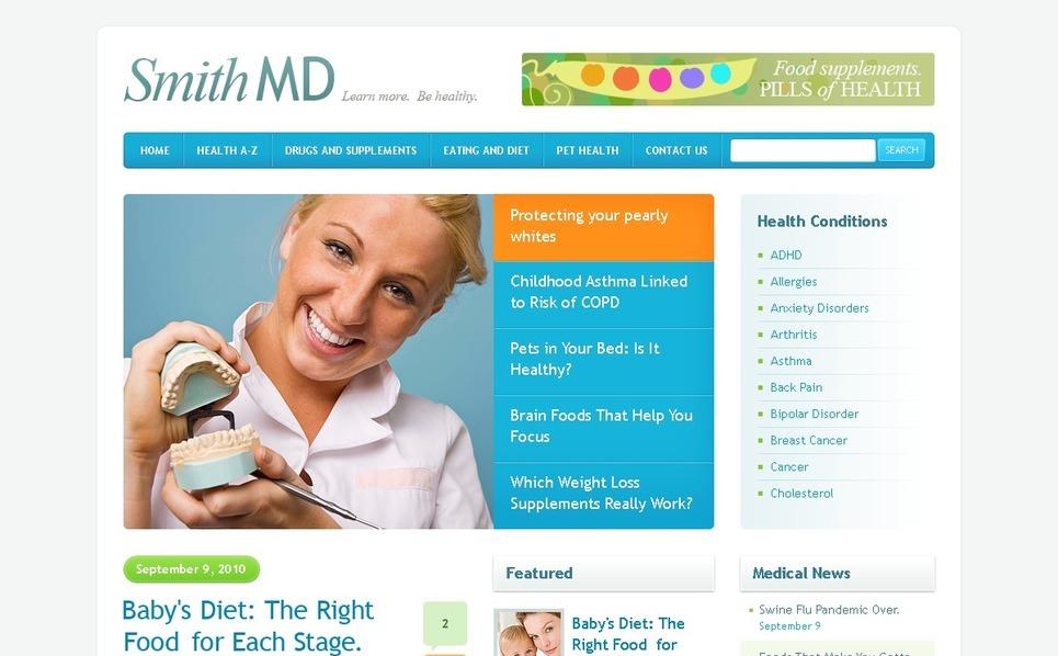 PSD шаблон №50043 на тему медицина New Screenshots BIG