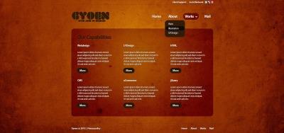 PSD шаблон №50078 на тему веб-дизайн