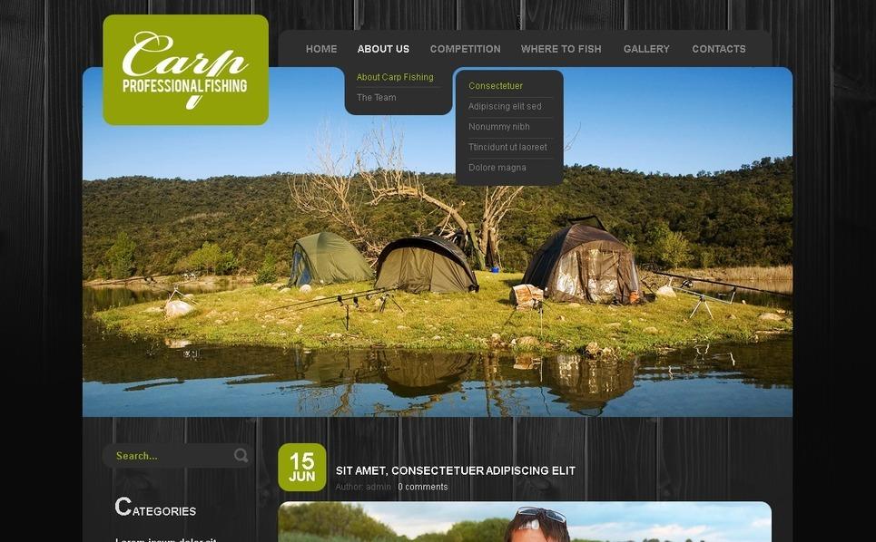 Szablon PSD #50002 na temat: wędkarstwo New Screenshots BIG