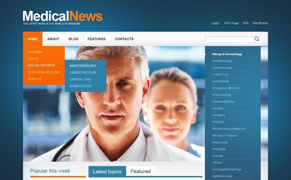 Szablon PSD #50091 na temat: medycyna New Screenshots BIG