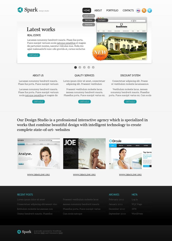 Tema psd 50088 per un sito di web design for Sito di design