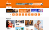 Template Siti Web Responsive #50098 per Un Sito di Canale TV New Screenshots BIG