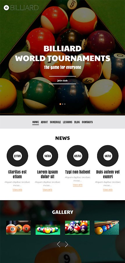 WordPress Theme/Template 50106 Main Page Screenshot