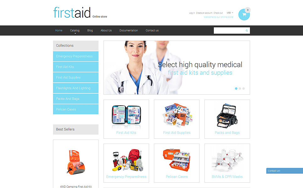 Tema Shopify Responsive para Sitio de Ambulacia New Screenshots BIG