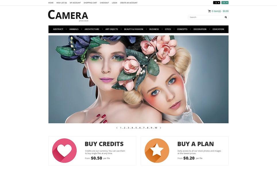 Plantilla OpenCart Responsive para Sitio de Stock Foto New Screenshots BIG