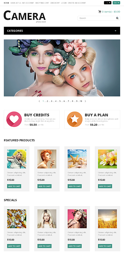 ADOBE Photoshop Template 50116 Home Page Screenshot