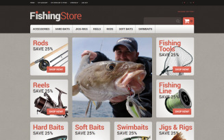 Useful Fishing Accessories Magento Theme