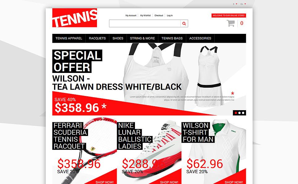 Tema Magento Responsive #50118 per Un Sito di Tennis New Screenshots BIG
