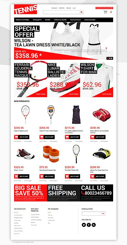 Magento Theme/Template 50118 Main Page Screenshot
