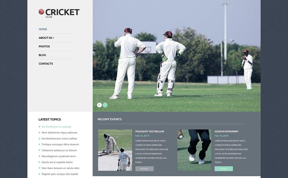 Reszponzív Krikett WordPress sablon New Screenshots BIG