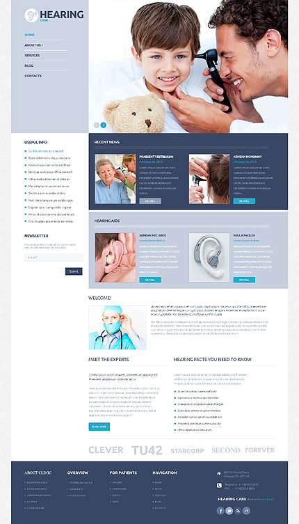 WordPress Theme/Template 50123 Main Page Screenshot