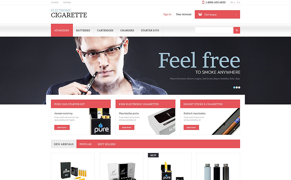 Responzivní PrestaShop motiv na téma Tabák New Screenshots BIG
