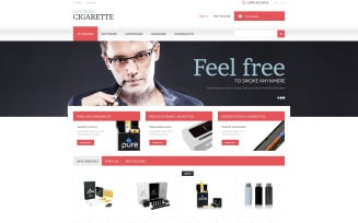 Electronic Cigarettes Store PrestaShop Theme
