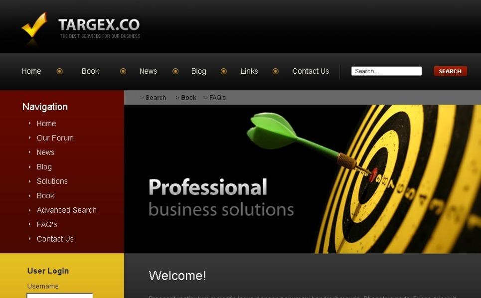 Modello PSD  #50135 per Un Sito di Consulenza New Screenshots BIG