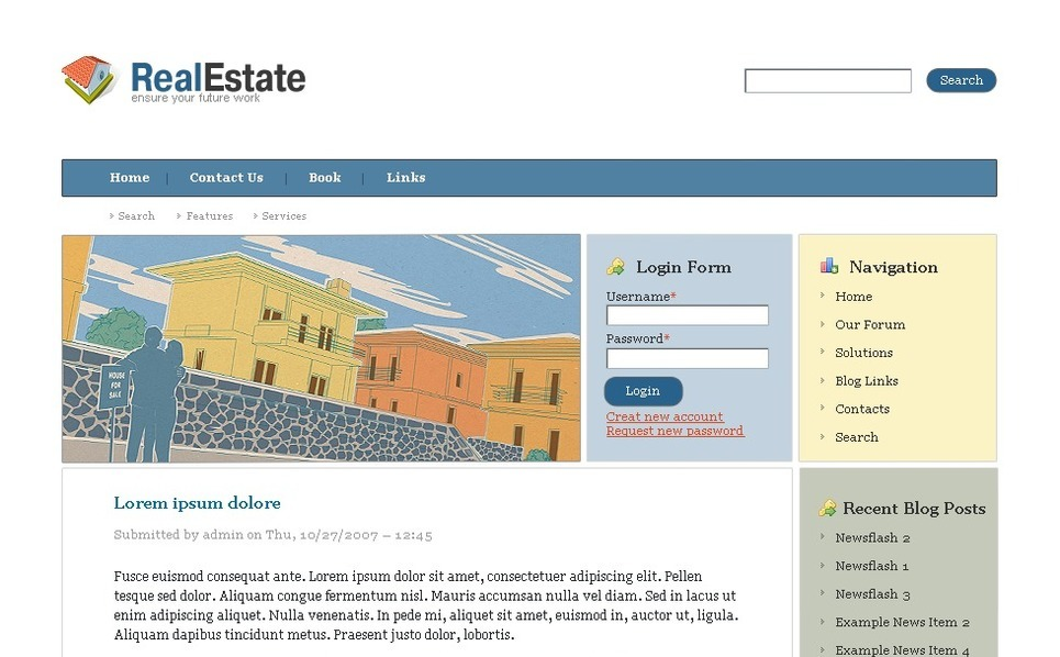 Plantilla PSD #50138 para Sitio de Agencia inmobiliaria New Screenshots BIG