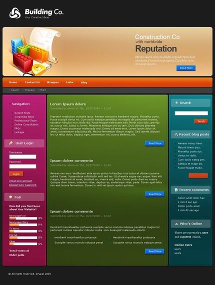 PSD макет сайта №50139