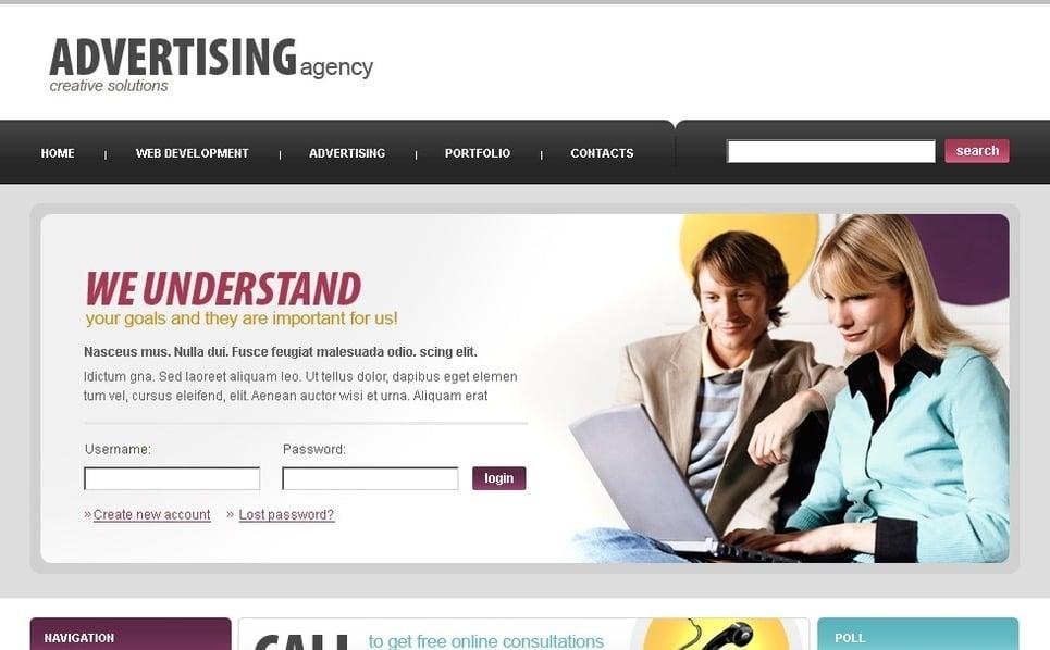 Modello PSD  #50147 per Un Sito di Agenzia Pubblicitaria New Screenshots BIG